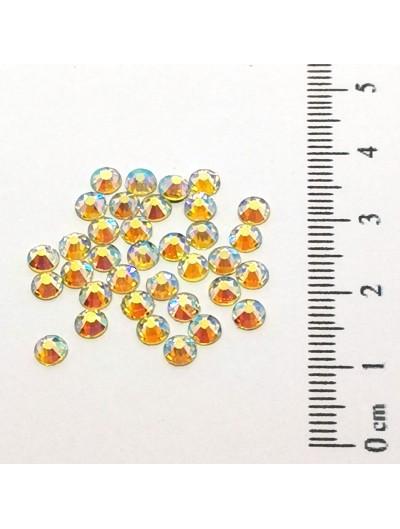 Glas Strasssteine SS16 03 Gold AB irisierend