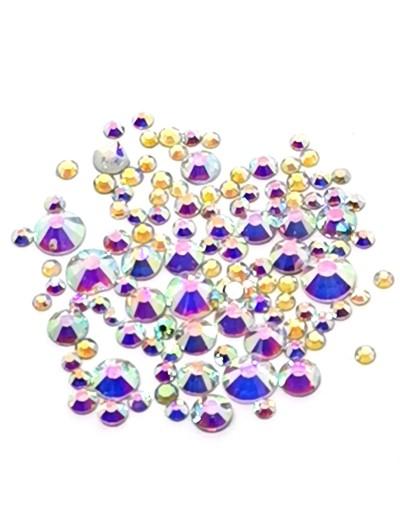 Glas Strasssteine SS Mix 02 Crystal AB irisierend