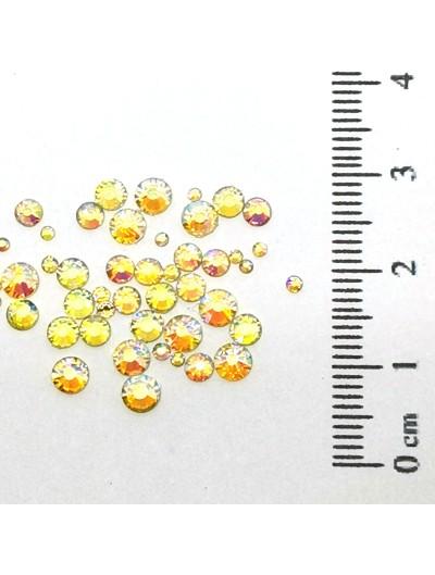 Glas Strasssteine SS Mix 03 Gold AB irisierend