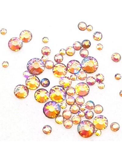 Glas Strasssteine SS Mix 05 Pink AB irisierend