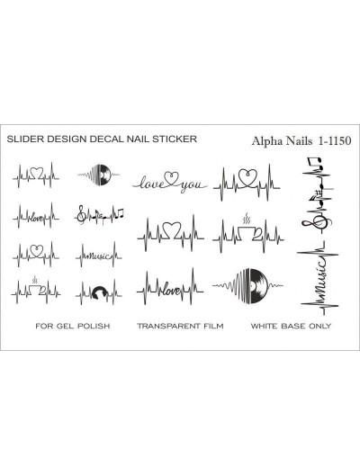 Nagel Sticker in Schwarz 1-1150