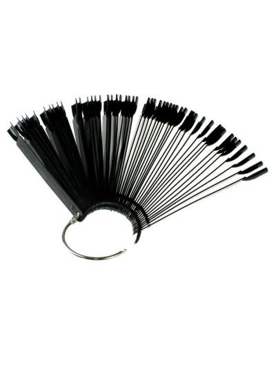 Display Farbmuster : 50 Stück Tips mit Ring , Schwarz
