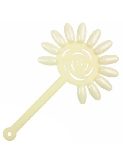 Display Farbmuster : Blume 10er Set mit Ring , Milchfarbe