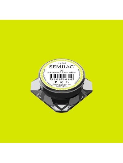Semilac Spider Gum UV Gel 07 Neon Yellow