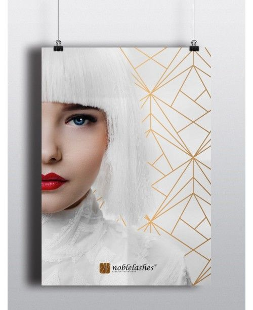 Poster Noble Lashes A3 White&Gold