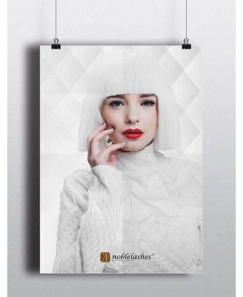 Poster Noble Lashes A3 All White