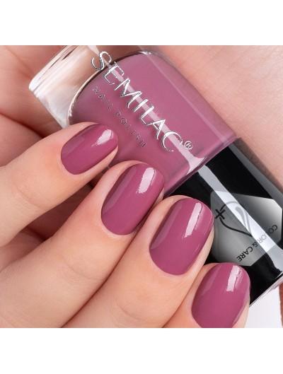 Pflegender Nagellack - Dunkelrosa C745 - Semilac Color&Care