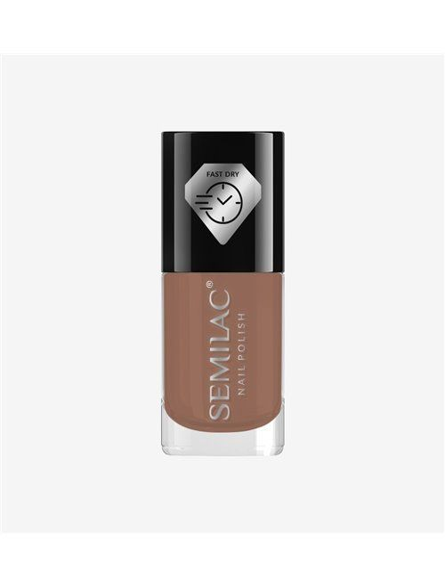 Schnelltrocknender Nagellack - Braun C230 - Semilac Fast Dry