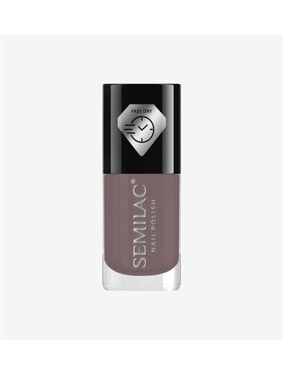 Schnelltrocknender Nagellack - Taupe C255 - Semilac Fast Dry