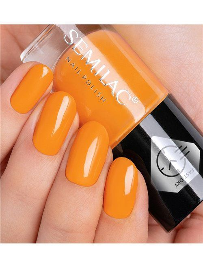 Schnelltrocknender Nagellack - Orange C440 - Semilac Fast Dry