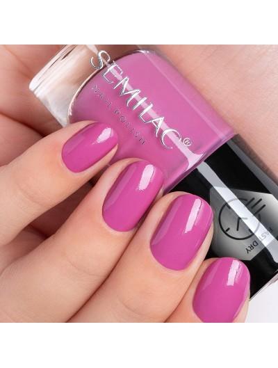 Schnelltrocknender Nagellack - Pink C682 - Semilac Fast Dry