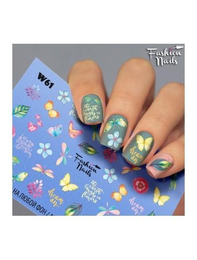 Nagel Sticker Frühling W61