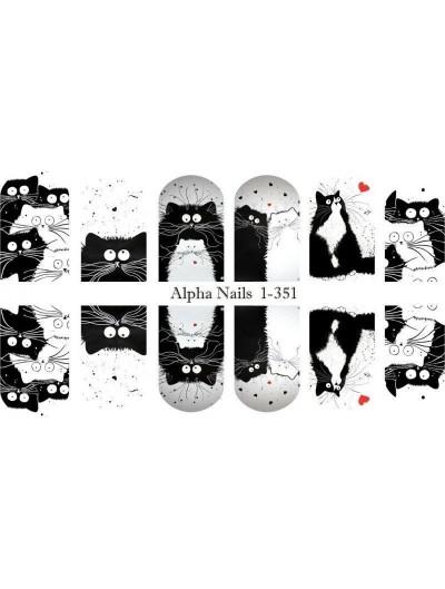 Nagel Sticker Katzen 1-351