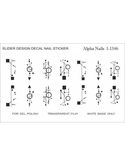 Nagel Sticker Geometrische Muster 1-1346