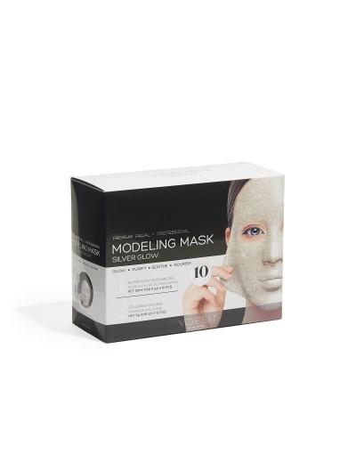 Gesichts- und Modellierungsmaske - Silver Glow 10 St.
