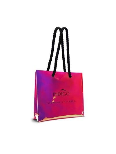Holo-Einkaufstasche Pink