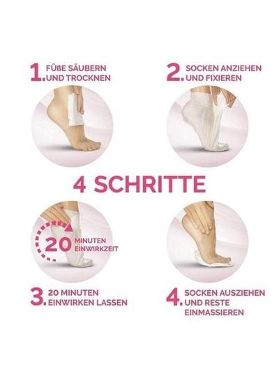 Fußmaske in Socken ohne Parfüm und Farbstoffe