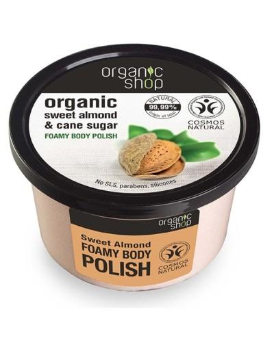 Organic Sweet Almond & Cane Sugar Foamy Body Polish 250g