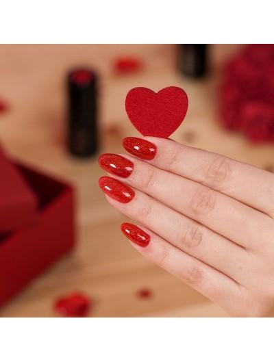 UV Nagellack Semilac 346 Chic Red Glitter