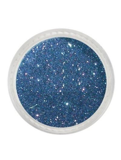 Glitterpuder blau metallic fein 14