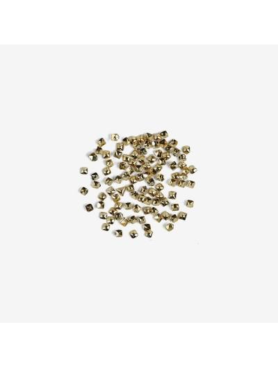 762 Nailart Semilac Quadrat gold klein 100 St.