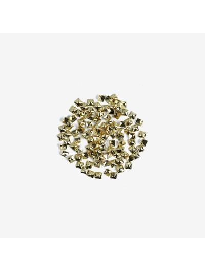 772 Nailart Semilac Quadrat gold gross 100 St.