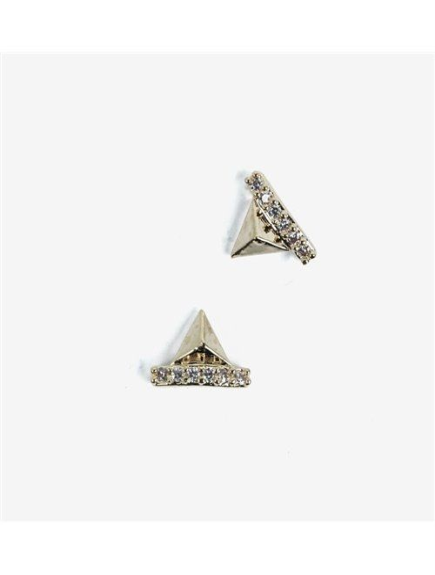 782 Overlay Semilac Pyramiden gold 2 St.