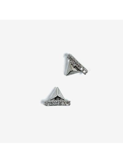 783 Overlay Semilac Pyramiden silber 2 St.