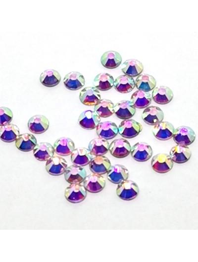 Glas Strasssteine SS10 02 Crystal AB irisierend