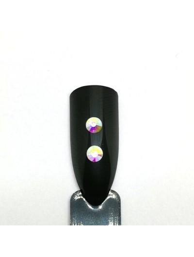 Glas Strasssteine SS12 02 Crystal AB irisierend