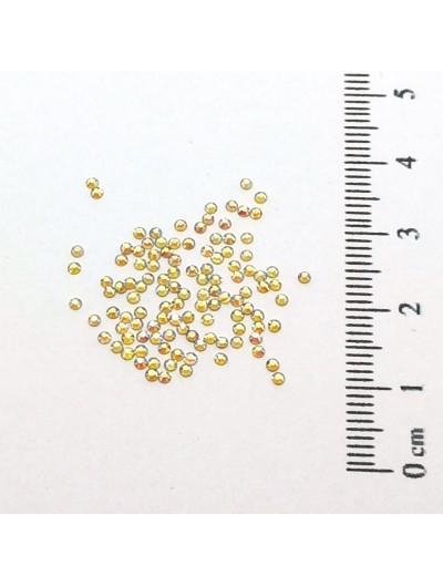 Glas Strasssteine SS3 03 Gold AB irisierend