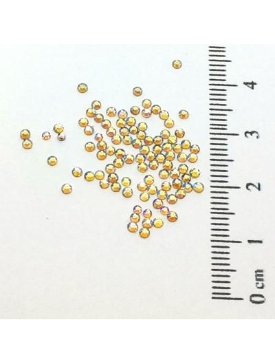 Glas Strasssteine SS4 03 Gold AB irisierend